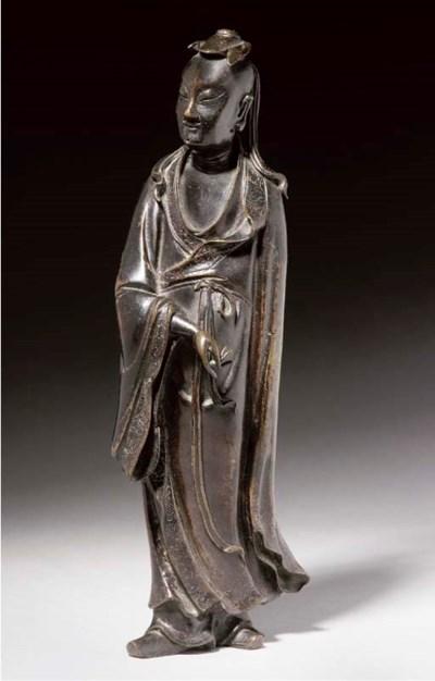 A Bronze model of Lu Dongbin,