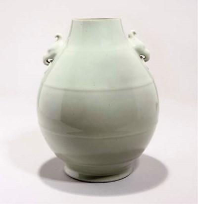 A celadon glazed vase, 19th Ce