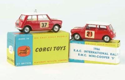 CORGI MINI RALLY CARS