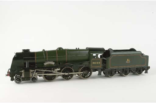 A rare Bassett-Lowke electric BR(M) 4-6-0 rebuilt Royal Scot Locomotive and Tender No. 46100