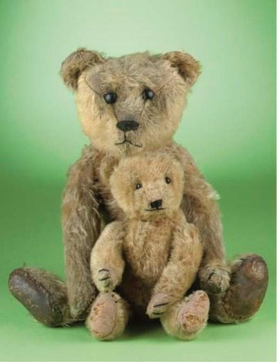 Two early German teddy bears