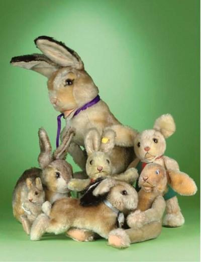 Steiff Rabbits, 1950s-60s