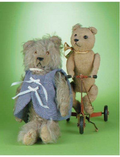A teddy bear on Scooter