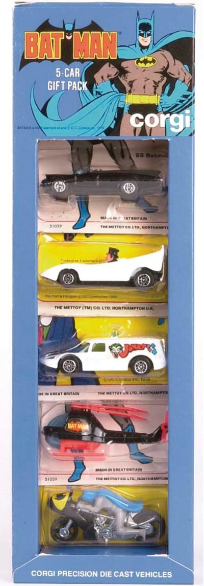 A Corgi 7000 Batman 5-Car Gift