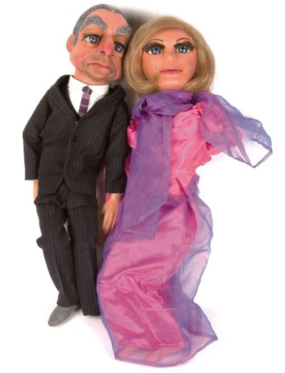 Puppets modelled after 'Lady P