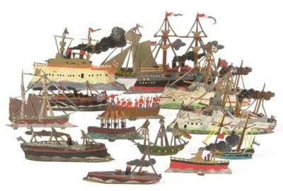 German lead and tinplate Ships