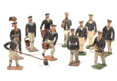 Heyde 45mm. lead Sailors in bl