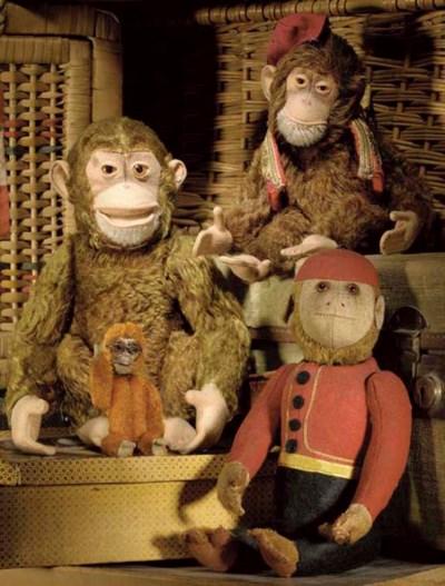 A Schuco yes/no bellhop monkey