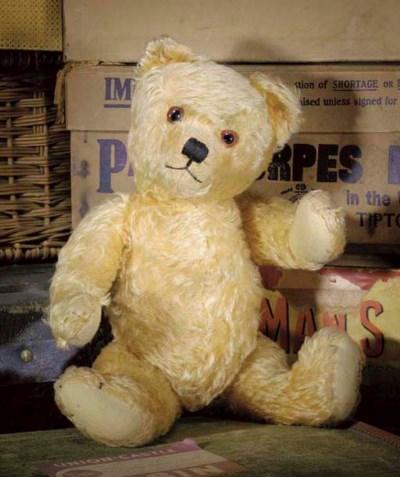 An Alpha Farnell teddy bear