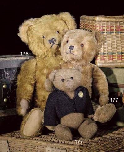 A brown mohair teddy bear