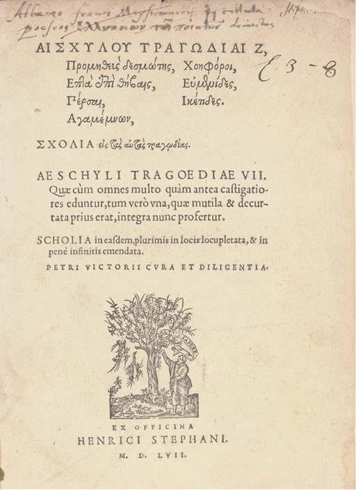 AESCHYLUS (525-456 B.C.). Trag
