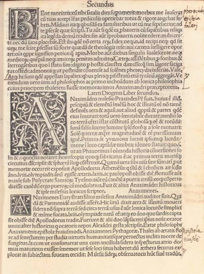 DIOGENES LAERTIUS (3rd cn. CE.