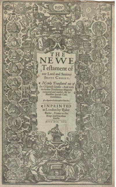 BIBLE, English. [The Holy Bibl
