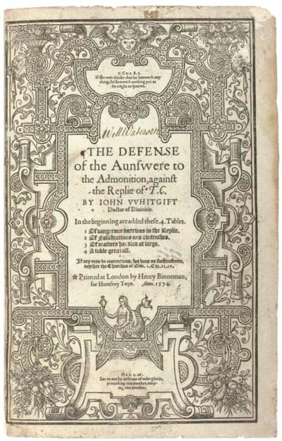 WHITGIFT, John (1530?-1604). T