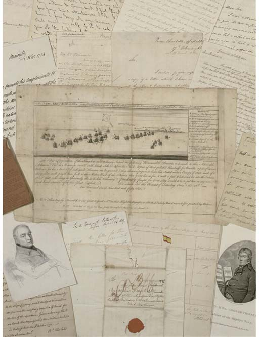 NAVAL DOCUMENTS -- a collection of autograph letters and documents, 18th and 19th centuries, comprising: