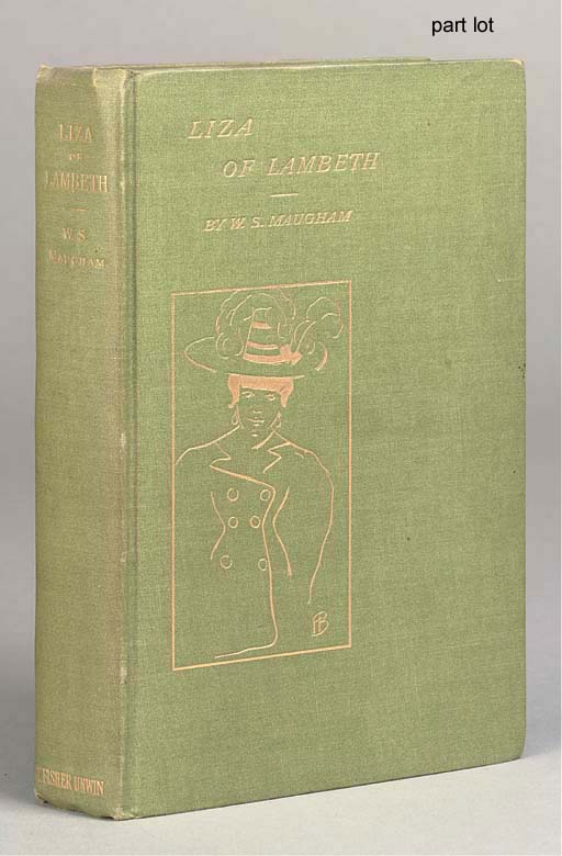 MAUGHAM, W. Somerset (1874-1965). Liza of Lambeth. London: T. Fisher Unwin, 1897. 8°. 6pp. of advertisements at end (very light and very occasional foxing). Original green pictorial cloth gilt, uncut. FIRST EDITION, FIRST ISSUE OF MAUGHAM'S FIRST BOOK. Stott A1a.