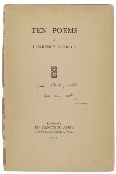 DURRELL, Lawrence (1912-1990).