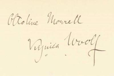 WOOLF, Virginia (1882-1941). F