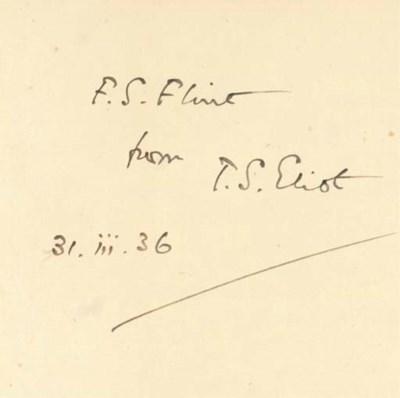 ELIOT, T. S. (1888-1965). Coll
