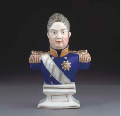 AN ENGLISH PORCELAIN BUST OF W