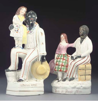 TWO STAFFORDSHIRE FIGURES OF U