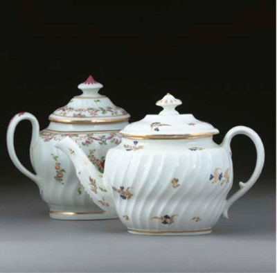 A NEWHALL TEAPOT AND COVER AND