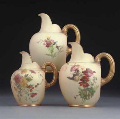 SIX VARIOUS ROYAL WORCESTER BL