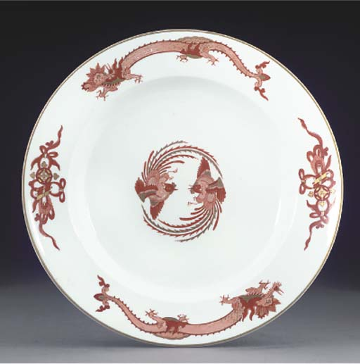 A MEISSEN PLATE FROM THE RÖTER