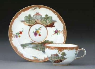 A MEISSEN COMPOSITE SET OF SIX