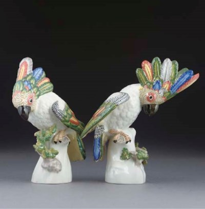 TWO NYMPHENBURG MODELS OF COCK
