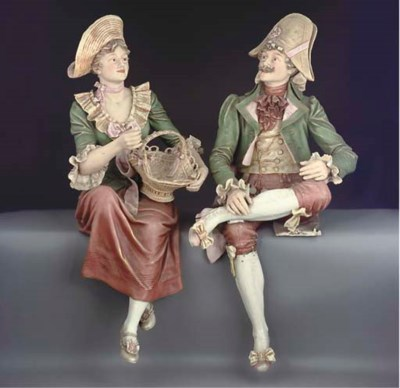 A PAIR OF AUSTRIAN PARIAN FIGU