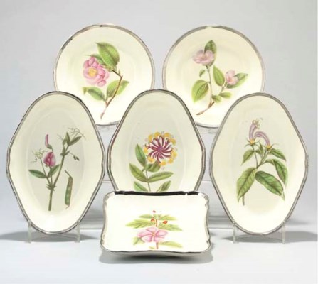AN ENGLISH PEARLWARE BOTANICAL