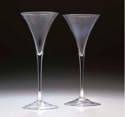 A PAIR OF TOASTING-GLASSES