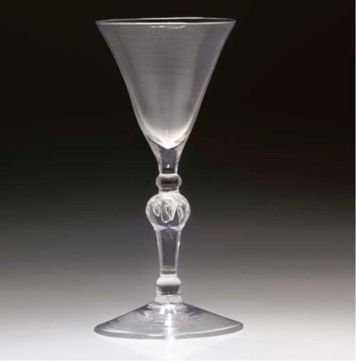 A LIGHT BALUSTER GOBLET