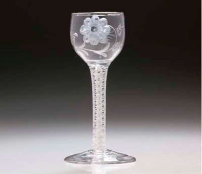 AN ENGRAVED WINE-GLASS OF POSS
