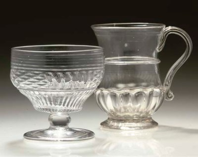 A BALUSTER TANKARD, AND A MOUL