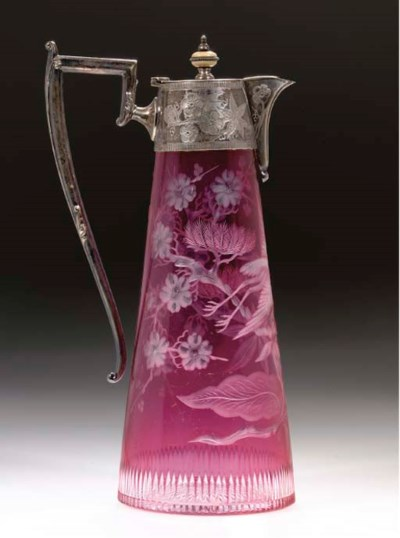 A PALE-RUBY-FLASH AND ENGRAVED