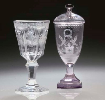 A GOBLET AND COVER AND A GOBLE
