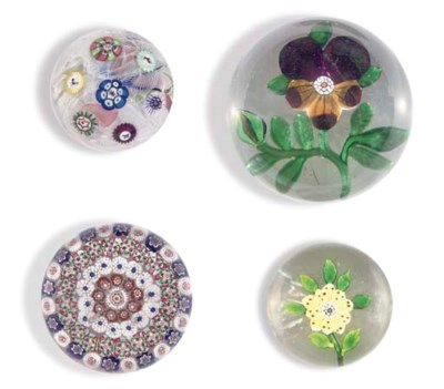 FOUR BACCARAT PAPERWEIGHTS