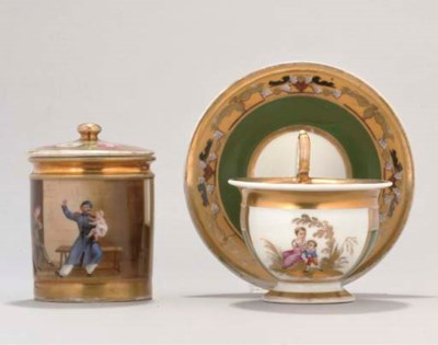 A RUSSIAN (GARDNER) TEACUP AND