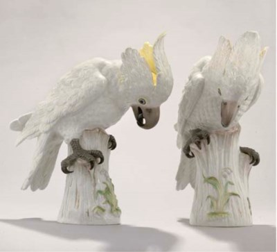 A PAIR OF MEISSEN MODELS OF CO