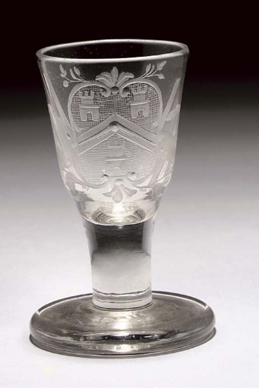 AN ENGRAVED ARMORIAL MASONIC F