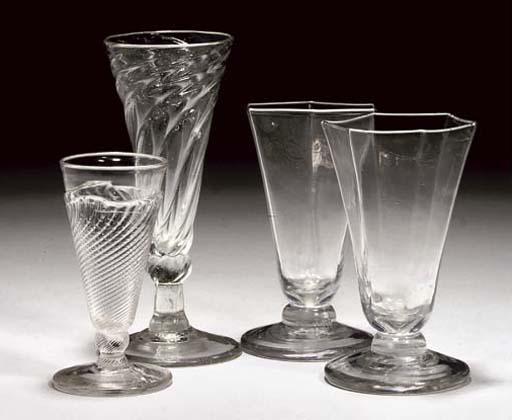FOUR DWARF ALE-GLASSES