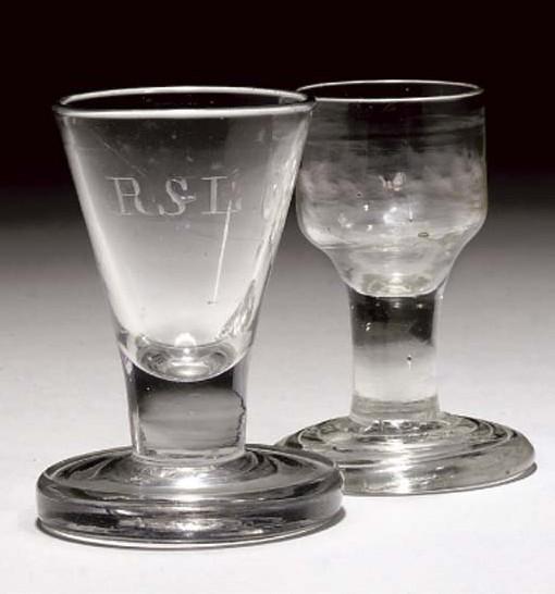 TWO FIRING-GLASSES
