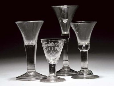 A GROUP OF WINE-GLASSES