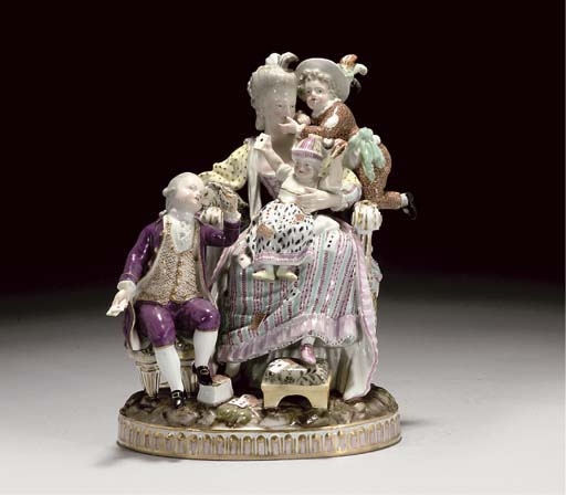 A MEISSEN GROUP OF 'THE GOOD M