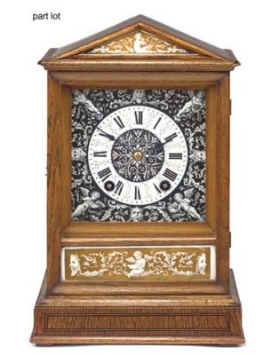 Three mantel clocks, late 19th