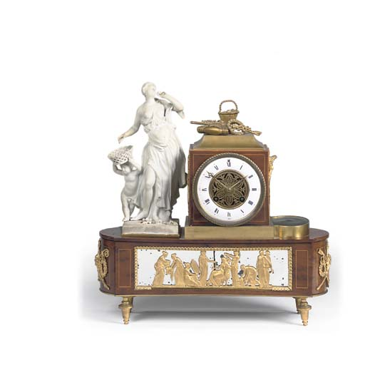 A French burr-yew, ormolu and