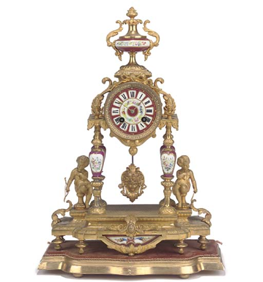 A French gilt-spelter and meta