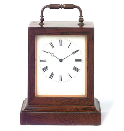 A French rosewood travel timep